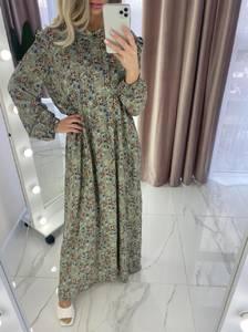 Платье длинное с длинными рукавами А37908