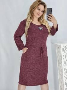 Платье короткое с длинным рукавом А54222
