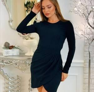 Платье короткое черное А03912