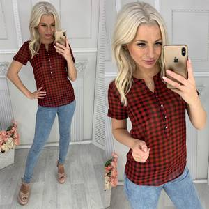 Блуза с коротким рукавом Ц0037