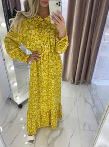 Платье длинное с длинными рукавами А37909