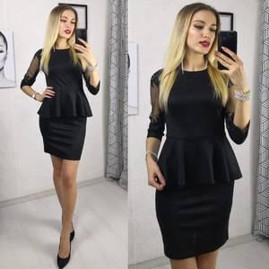 Платье короткое нарядное элегантное Ф9479