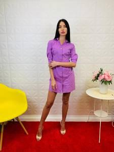 Платье короткое однотонное Ц2597