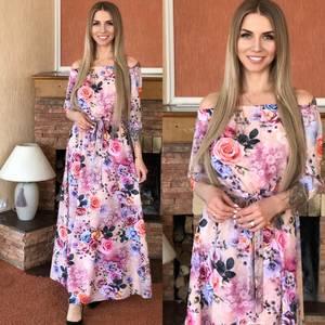 Платье длинное нарядное Я0115