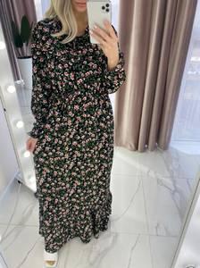 Платье длинное с длинными рукавами А37910
