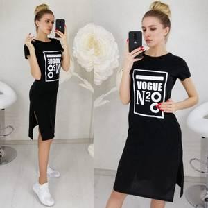 Платье короткое с принтом Ц3130