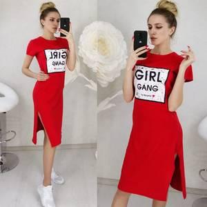 Платье короткое с принтом Ц3131