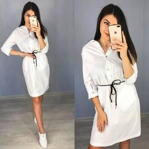 Платье короткое с рукавом 3/4 Я8264