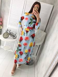 Платье длинное с принтом Ц2921