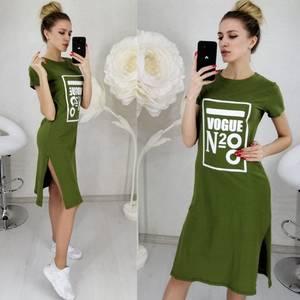 Платье короткое с принтом Ц3132
