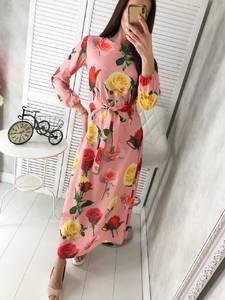 Платье длинное с принтом Ц2922