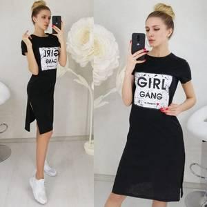 Платье короткое с принтом Ц3133