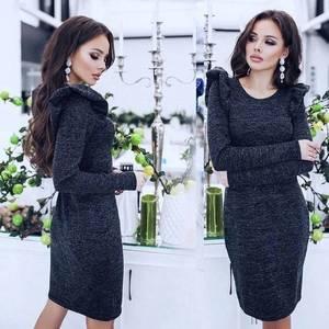 Платье короткое с длинным рукавом А59165