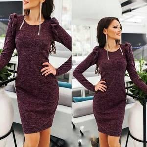 Платье короткое с длинным рукавом А59167