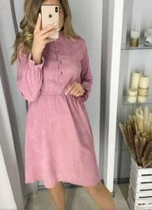 Платье короткое с длинным рукавом А58469