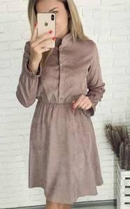 Платье короткое с длинным рукавом А58471