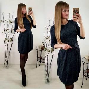 Платье короткое современное черное П1405
