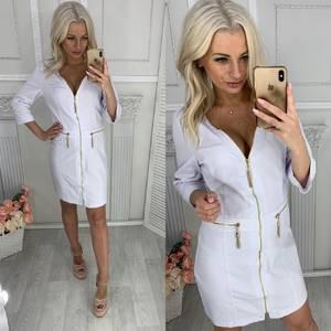 Платье короткое нарядное белое Ц0042