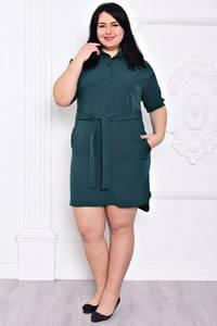 Платье короткое повседневное зеленое С9192