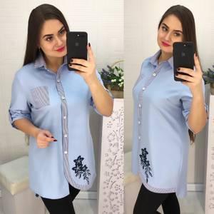 Рубашка с принтом Х4010