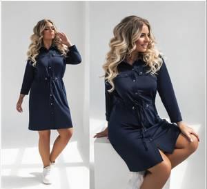 Платье короткое однотонное А31782