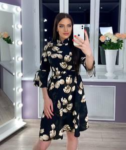 Платье короткое с принтом Ю8147