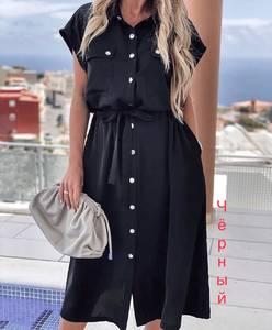 Платье длинное однотонное А31555