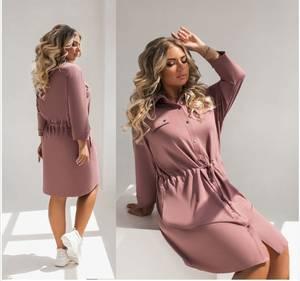 Платье короткое однотонное А31783