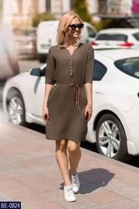 Платье короткое однотонное А24009