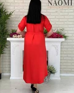 Платье длинное однотонное А31310