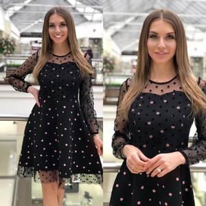 Платье короткое нарядное Я5386