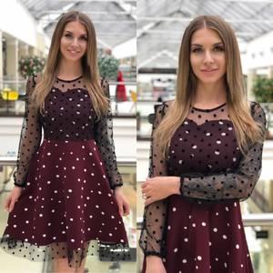 Платье короткое нарядное Я5387