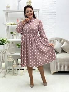 Платье короткое с длинным рукавом Я5392