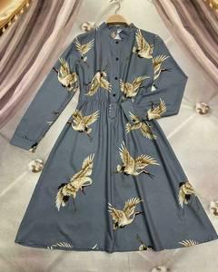 Платье короткое с длинным рукавом Ю6490