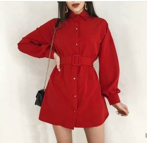 Платье короткое красное А03918