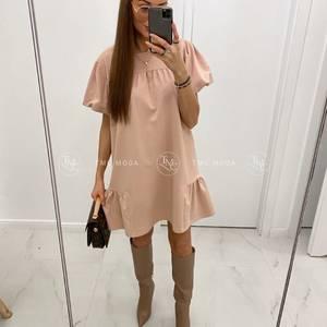 Платье короткое однотонное А32743