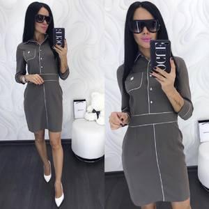 Платье короткое с рукавом 3/4 классическое Х9976