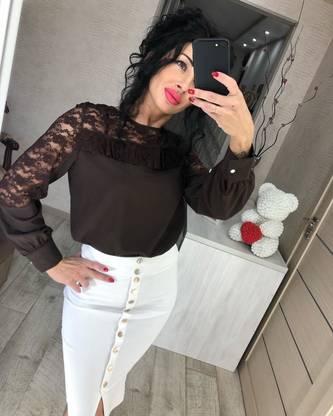 Блуза с длинным рукавом Ц2337