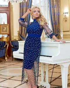 Платье длинное нарядное Я3705