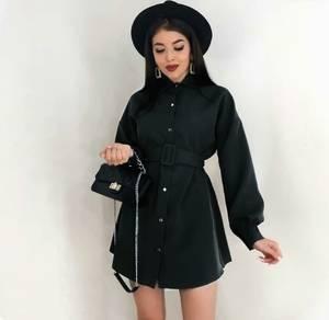 Платье короткое черное А03919