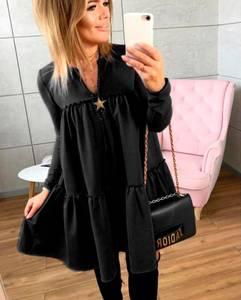 Платье короткое черное Ш6460