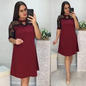 Платье короткое нарядное однотонное Х6752