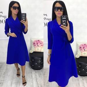 Платье короткое синее Ч6680
