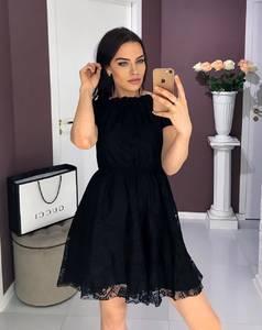Платье короткое черное Ш8379