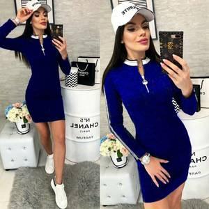 Платье короткое с длинным рукавом А57067