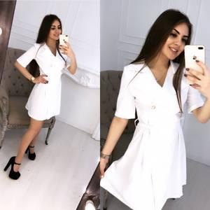 Платье короткое нарядное белое Ц0116