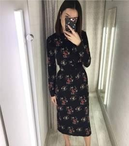 Платье длинное с длинными рукавами Я1947
