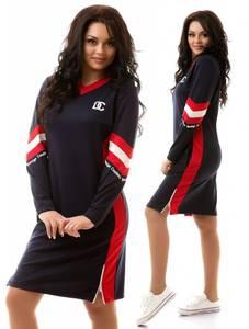 Платье короткое с длинным рукавом черное Х6763
