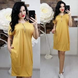 Платье короткое однотонное Х6838
