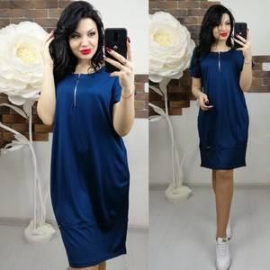 Платье короткое однотонное Х6839